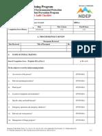 Training Audit checklist