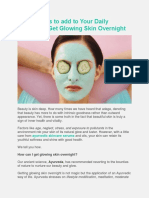 Top 7 Habits to Add to Your Daily Routine to Get Glowing Skin Overnight