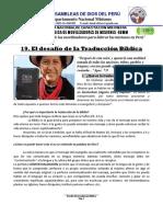 19. TRADUCCION DE LA BIBLIA -