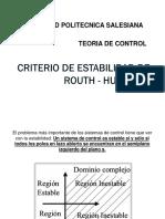 Criterio de estabilidad de Routh-Hurtwitz