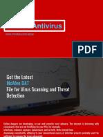 Mcafee Antivirus PPT