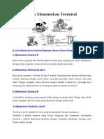 Cara Mudah Menemukan Terminal regulator