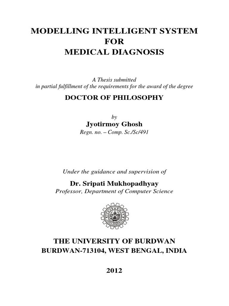 Jyotirmoy Ghosh Thesis 1 Pdf Fuzzy Logic Medical Diagnosis