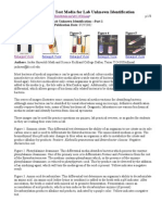 Biochemical Test Media for Lab Unknown Identification