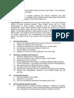 Case Study Parameters