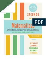 Popuesta de Dosificación Matemáticas Segundo Grado (Programa 2017) Ciclo Escolar 2019-2020 (1).pdf
