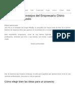 22 Consejos del Empresario Chino más rico del Mundo