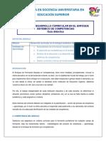 Guía didáctica Desarrollo Curricular FBC