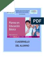 Cuadernillo de Trabajo para el alumno Segundo PLANEA 2017-2018