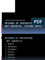 5 - Methods of Presenting Art Subjects