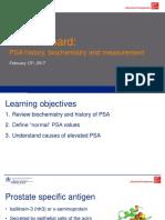 PSA history and measurement