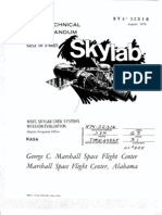 MSFC Skylab Crew Systems Mission Evaluation