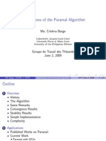 Applications of the Parareal Algorithm