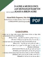 Matsayin Aure a Musulunci - Nazari a Kan Al'adun Da Aka Kago a Aure