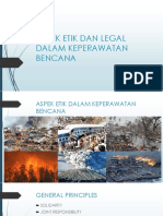 ASPEK ETIK DAN LEGAL DALAM KEPERAWATAN BENCANA