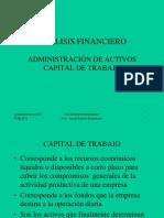 ADM. ACTIVOS - Capital de Trabajo