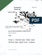 MSFC Skylab Mission Report Saturn Workshop