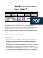 PART 96 Stainless Steel Material How is stainless steel made