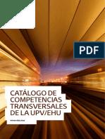 CATÁLOGO DE COMPETENCIAS TRANSVERSALES DE LA UPV EHU