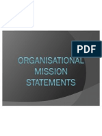Organisational Mission Statements