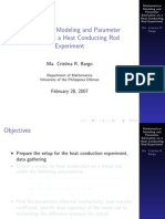 Mathematical Modeling and Parameter Bargo Estimation on a Heat Conducting Rod Experiment