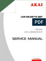 AKAI LTA-26N551HCP LCD TV SM