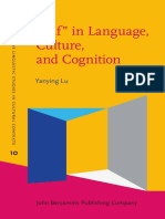 """""""Self"""" in Language, Culture, and Cognition"""