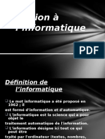 1 Initiation à l'informatique