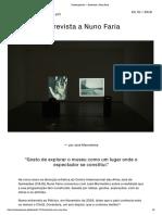 Contemporânea — Entrevista a Nuno Faria