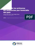 analisis de las primeras 50 Sentencias  sobre Femicidio 2017