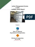 Construction Management System FSR 2005-10-12