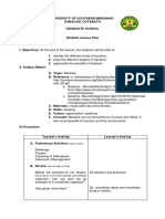 Detailed Lesson Plan about Bacteria