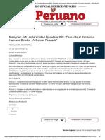 El Peruano - Designan Jefe de la Unidad Ejecutora 003_ _Fomento al Consumo Humano Directo - A Comer Pescado_ - RESOLUCION MINISTERIAL - N° 243-2019-PRODUCE - PODER EJECUTIVO - PRODUCE.pdf