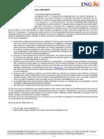 Informatii precontractuale privind asigurarea ING Credit Protect