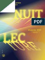 Nuit de la lecture 2020 - Dossier de presse