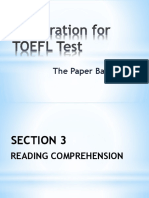 Preparation for TOEFL PBT Test_READING