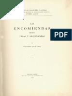 Las encomiendas según tazas y ordenanzas (Feliú Cruz).pdf
