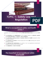 LEC 1 SAFETY LAW AND REGULATION