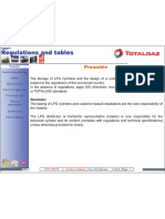 Gas cylinder standard