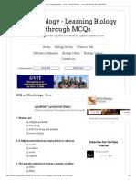 MCQ on Microbiology - Virus _ MCQ Biology - Learning Biology through MCQs.pdf