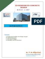 LECTURE NOTE 01 - RCC Design