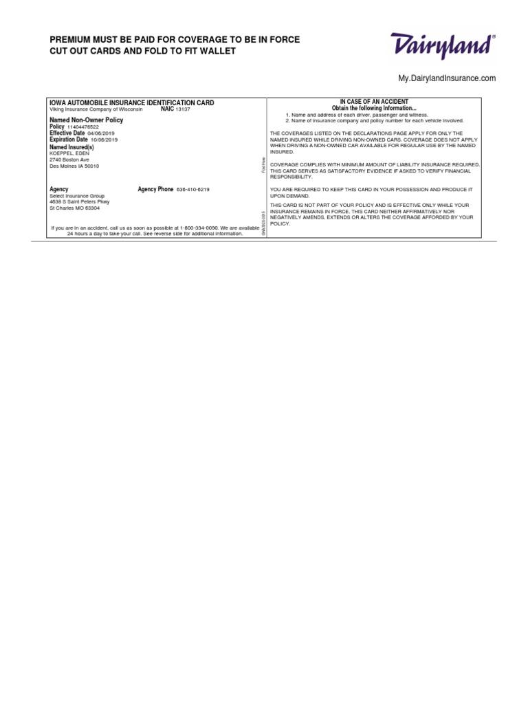 Id Card 1 Pdf Vehicle Insurance Financial Risk