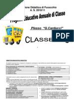 Progetto Educativo Annuale Di Classe
