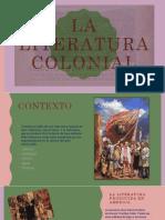 LA LITERATURA COLONIAL