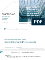 Ryo Tashiro, Federal Reserve Bank of Philadelphia - Philadelphia Business Journal 2020 Economic Forecast