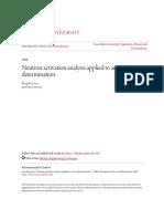 Neutron activation analysis applied to arsenic determination