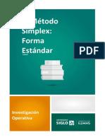1. El método simplex forma estándar