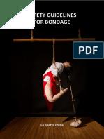 Safety Guidelines for Bondage, Shibari and Kinbaku