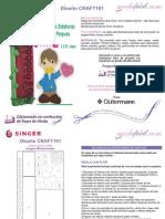 Instrucciones de Costura Medidor de Estaturas Infantil CRAFT101