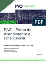 PAE - Plano de Atendimento a Emergências